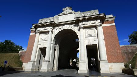The Menin Gate memorial to the missing, Belgium. Picture: PA