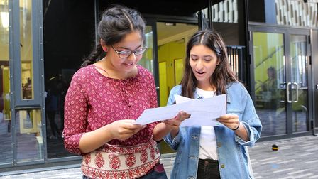 Isaac Newton Academy, 1 Cricklefield Place, Ilford. GCSE Results Day.