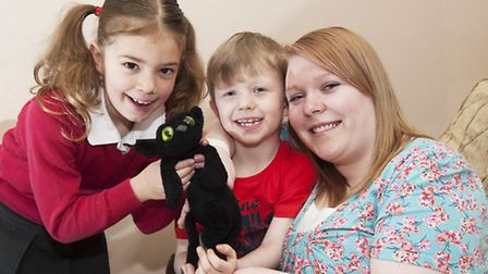 Elsie Keeton-Powell (8) was reunited with her teddy after Mark (6) and his mother Stacey Cree posted