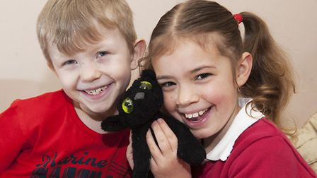 Elsie Keeton-Powell is reunited with her teddy bear. Pictures: Nick Butcher
