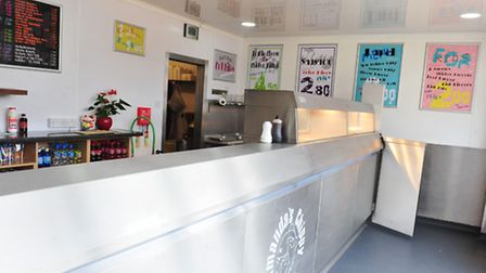 Inside Amanda's Chippy, Kirkley Run, Lowestoft. Pictures: Nick Butcher