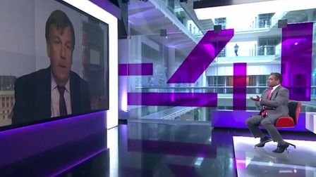 John Whittingdale and Krishnan Guru-Murthy on Channel 4 News.
