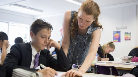 A lesson at the newly formed Oasis Academy Silvertown