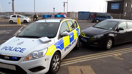 The crash was close to Commercial Road in Lowestoft. Picture: Mick Howes