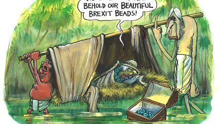The African Queen. Picture: Martin Rowson