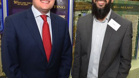 Wes Streeting MP at a Redbridge Islamic Centre open day earlier this year, with Vaseem Ahmed. Both M