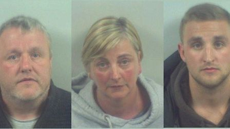 The Maltman family, Brian, Kim and Daniel, will spend 20 years behind bars collectively. Photos: Ken