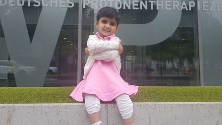 Maham Usman outside the West German Proton Therapy Centre in Essen (Picture: Tooba Usman)