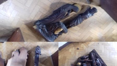 Three Stations of the Cross were damaged by an intruder at St Mary's Church, Hornchurch on Saturday
