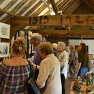 People enjoying Thames Chase Trust's Art and Sculpture exhibition. Picture: Aisling Woodhead