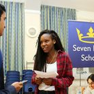 Seven Kings High School, 494 Ley Street, Seven Kings IG2 7BT - A-Level results day.Lade Salam 18 go
