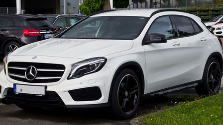 A Mercedes GLA, the type of car which was involved in the police incident yesterday. The car, which