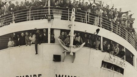 The 'Empire Windrush' arriving from Jamaica, 1948. (Photo by Daily Herald Archive/SSPL/Getty Images