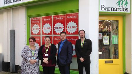 Staff at the Barnardo's charity shop in Lowestoft, which was burgled