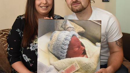 Natalie Pearson and Chris Delucia are fundraising for two new cold cots at Queen's Hospital after th