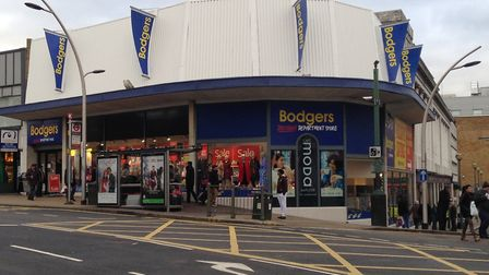 Bodgers department store in Ilford.