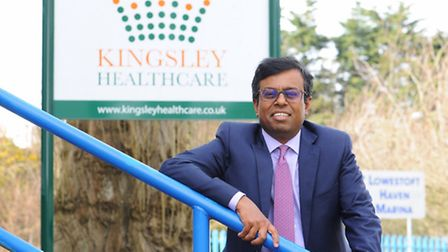 Daya Thayan, CEO of Kingsley Healthcare based in Lowestoft. Picture: James Bass