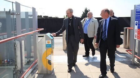 The Archbishop of Canterbury visiting the DLR in east London