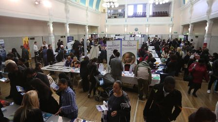 Redbridge Town Hall held a job fair which included stalls from different companies across the boroug
