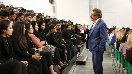 More than 350 students sat spellbound as Lord Robert Winston addressed them at Oaks Park High School