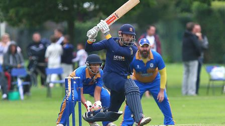 Nick Browne hits out for Essex at Upminster (pic Gavin Ellis/TGS Photo)