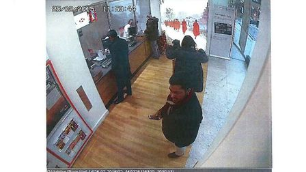Swahelin Chowdhury, one of Moinul Hossain's accomplices, was caught on CCTV withdrawing £26,500 tran