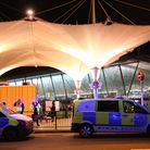 Emergency services in Stratford following a noxious substance attack where six people have been inju