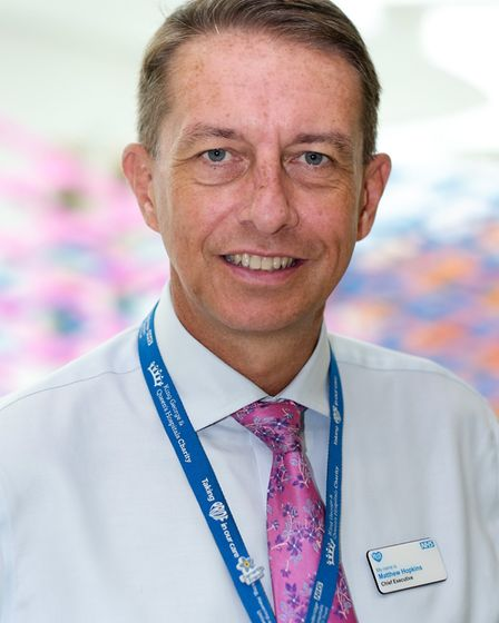Matthew Hopkins, who oversees Queen's Hospital in Romford, has been listed one of the top 1,000 infl