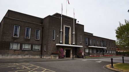 Romford Town centre. Havering Town Hall