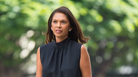 Gina Miller arrives at Westminster Magistrates' Court in London.