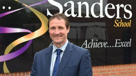 Headteacher of Sanders School in Hornchurch John McEachern, who stands down from his post today.