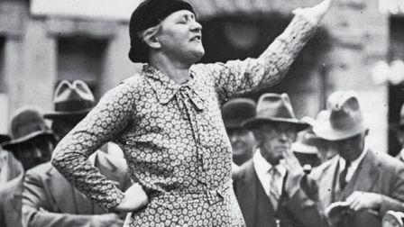 Adele Pankhurst speaking in Sydney in 1931. Picture: Fox Photos/Getty Images