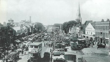 Romford Market in the mid-1930s.