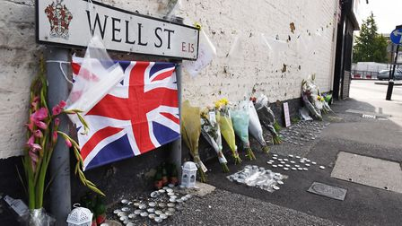 Floral tributes for the teenager who was shot and killed in Well Street Maryland