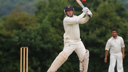 Jack Kliber in batting action for Shenfield (pic TGS Photo)