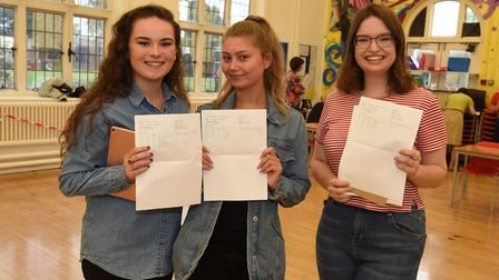 Frances Bardsley Academy for Girls students celebrating their A-level results this year. Picture: Ke