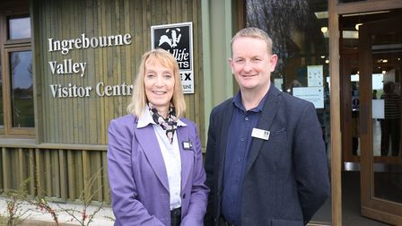 Ingrebourne Valley Visitor Centre: Michele Farrant, corporate manager, with Grant Maton, corporate