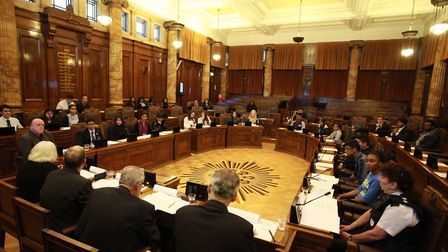 Redbridge Town Hall council chamber. Picture: Isabel Infantes