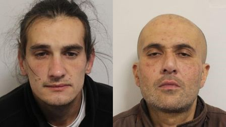 Ivor Manton, left, and Suby Sahota, right, have both been jailed for their part in a series of armed