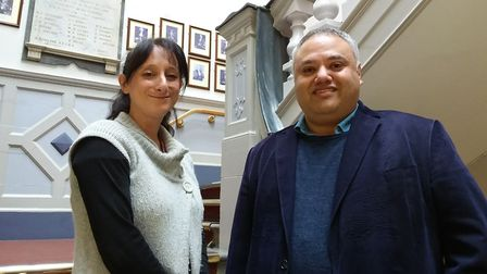 Suzanne Wright, development and engagement manager with Cllr Mark Santos.
