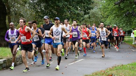 Runners in the Valentines park 5k run. Picture Steve Poston