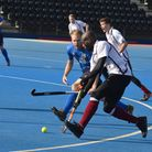 Action from Wapping men's firsts' clash with Blueharts (pic: Wapping HC)
