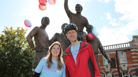 Bobby Moore Statue, junction of Green Street and Barking Road, Upton Park E13 9AZ. Cllr Veronica Oak