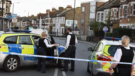 Police at the scene of a crime. Picture: Ken Mears