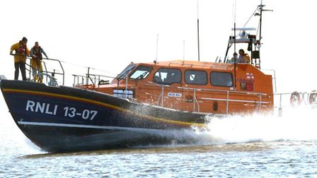 The relief lifeboat stationed at Lowestoft