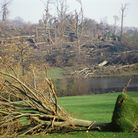 Great Storm 1987 - damage at Chartwell. Pic: National Trust *** Local Caption *** Chartwell