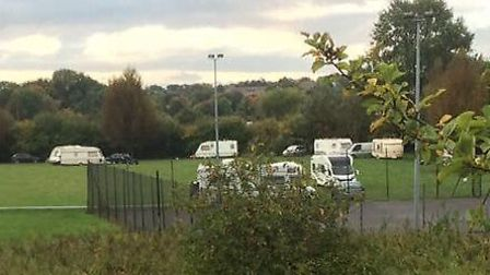 Travellers in Wanstead. Picture: @ConservativesLW