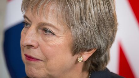 Prime Minister Theresa May during talks with EU leaders. Photograph: Dominic Lipinski/PA Wire