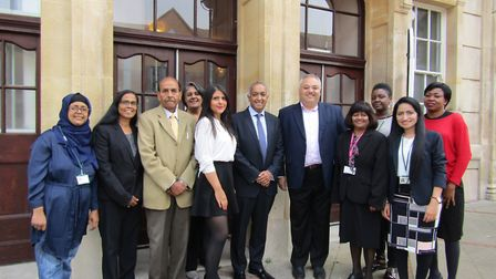From right to left- -Gladys Xavier, Redbridge Council, Cllr Mark Santos Cabinet Member for Health an