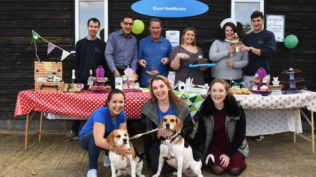 The company put on a coffee morning for the Macmillan charity. Picture Ken Mears.